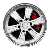 Steel alloy car rim Royalty Free Stock Photo