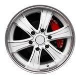 Steel alloy car rim Royalty Free Stock Photo