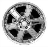 Steel alloy car rim Stock Photo