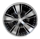 Steel alloy car rim Royalty Free Stock Photos
