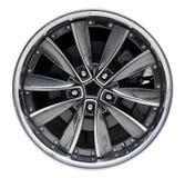 Steel alloy car rim Royalty Free Stock Photography