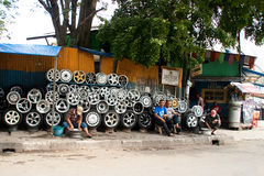 Steel Alloy Car Rims Bandung Indonesia 2011 Royalty Free Stock Photos