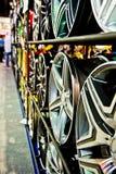 Steel alloy disks Stock Photo
