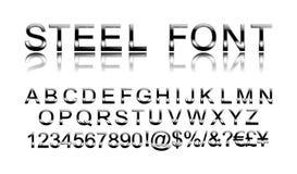 Steel alphabet font stock illustration