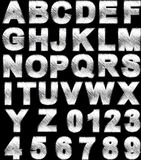 Steel alphabet set Royalty Free Stock Images