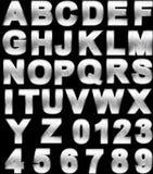 Steel alphabet set royalty free stock images