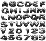 Steel alphabet set Stock Photos
