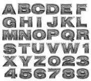 Steel alphabet set Royalty Free Stock Photography