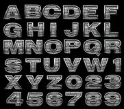 Steel alphabet set stock photo