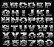 Steel alphabet set Stock Image
