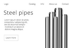 Steel or aluminum pipes royalty free illustration