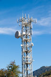 Steel antenna tower  for telecommunications and broadcasting Royalty Free Stock Image