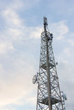 Steel antenna with transmitter Royalty Free Stock Photo