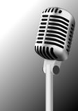 Steel antique microphone Royalty Free Stock Photography