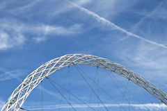 Steel Arch. Against the blue sky. Shot form London, Great Britain Royalty Free Stock Photos