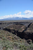 Steel Arch Bride Spanning Across the Rio Grande Gorge Stock Image