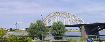 Steel arch bridge Royalty Free Stock Images