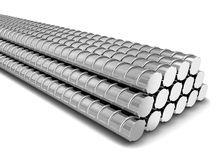 Steel armature. 3d illustration  on white background Stock Photos