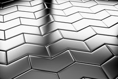 Steel arrow blocks flooring diagonal view Royalty Free Stock Images
