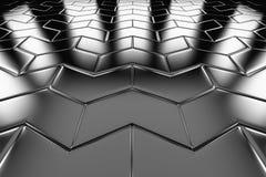 Steel arrow blocks flooring perspective view Stock Images