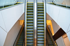 The steel automatic escalators Royalty Free Stock Photos