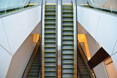 The steel automatic escalators Royalty Free Stock Photos