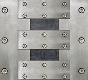 Steel background with bolts Royalty Free Stock Image