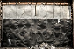 Steel background in factory Stock Photography