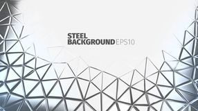 Steel background. Iron surface. Strong metallic banner. Steel background. Vector silver banner. Iron strong backdrop Royalty Free Stock Photography