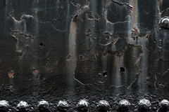 Steel background with rivets and copy space Royalty Free Stock Images