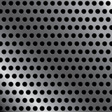 Steel background with seamless circle perforated carbon texture background. Steel background Royalty Free Stock Photos
