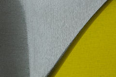 Steel background with yellow. Close up Stock Photo