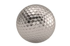 A steel ball isolatedon white background. 3D illustration. A steel ball isolatedon white background. 3D illustration stock illustration