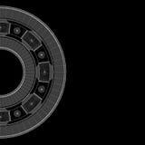 Steel ball roller bearings Stock Image