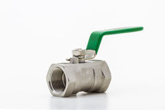 Steel ball valve . Royalty Free Stock Photos