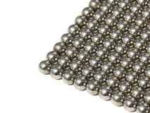 Steel balls arranged in rows Royalty Free Stock Photo