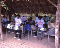 Steel band, Tobago. Royalty Free Stock Images