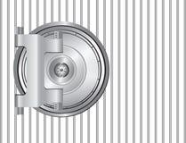 Steel bank door Stock Image