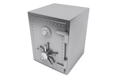 Steel Bank safe Royalty Free Stock Photos