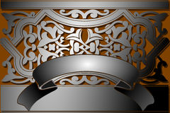 Steel Banner Classic Style. Royalty Free Stock Photos