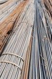 The steel bar bundles stock image