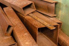 Steel bar components in a construction Royalty Free Stock Images