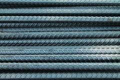 Steel bar. Many steel pile on the floor Stock Photography
