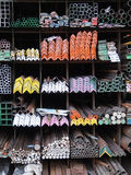 Steel bar material components Royalty Free Stock Photo