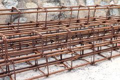 Steel bar, Rebar for construction,Rust on steel wire, Steel bar rust, Wire steel, Rebar rust stock photography