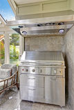 Steel barbecue with hood Stock Image