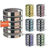 Steel barrel. Set of tanks. Vector illustration. Stock Images