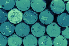 Steel barrel tank or oil fuel toxic chemical barrels Royalty Free Stock Image