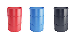 Steel barrels Stock Photo