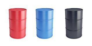 Steel barrels Stock Photo